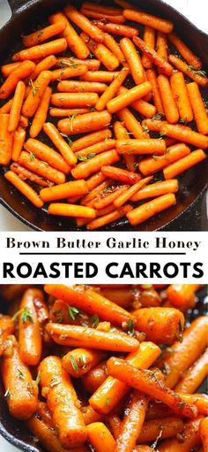 Healthy Recipes, Delicious Dinner Recipes, Veggie Recipes, Cooking Recipes, Honey Roasted Carrots, Vegetarian Side Dishes, Vegetable Side Dishes, Easy Meals, Weeknight Meals