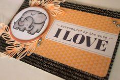 Tarjeta con un sello de papper smooches pintada con copic