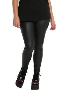 e6a2f385d53 Black Faux Leather Leggings Plus Size