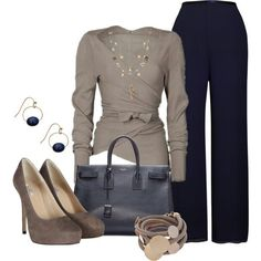 Navy and Taupe by derniers     Business Attire