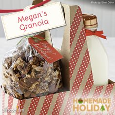 Megan's Granola | Megan, we thank you for this granola that pleases even those who claim not to like granola. Pour the finished product into airtight containers and let the gift giving begin!