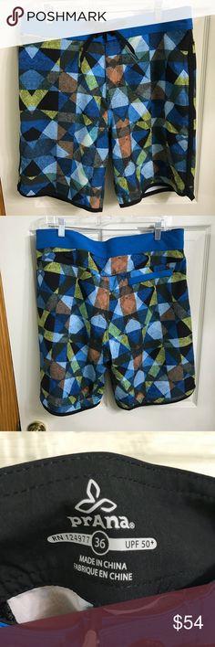 57334054ec PrAna High Seas Performance board shorts size 36 Brand new with tags PrAna  High Seas Performance