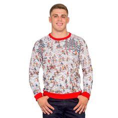 ab86dce163c Where s Waldo Snow Mountain Long Sleeve Ugly Christmas Sweater