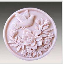 mm forma redonda molde de silicone sabo bolo soap mold flexvel de