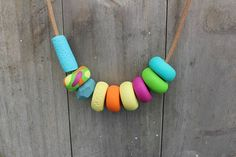 SUMMER TIME Polymer Clay Necklace on Etsy, $32.00 AUD