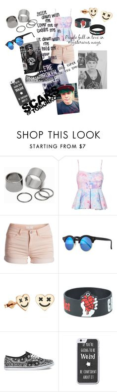 """Date with Ashton"" by nickymiami ❤ liked on Polyvore featuring Pieces, Illesteva and Vans"