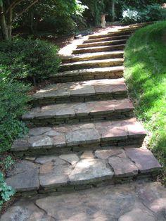 Flagstone Steps at Gibbs Gardens