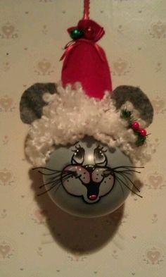 Christmas Mouse light bulb