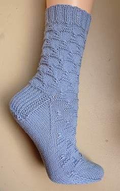 free knit sock pattern - Kilauea Sock in Panda Silk or Panda Wool - Crystal Palace Yarns