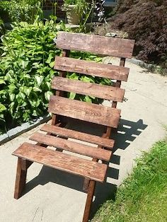 DIY furniture made from wood pallets.