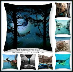 Art cushions / Throw pillows by TheSingingPhotographer.com.