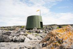 jordan ralph designs an off-grid artist's cabin on inis oírr island in ireland West Coast Of Ireland, Off Grid Cabin, Dry Stone, Irish Sea, Small Windows, Steel Structure, Prefab Homes, Off The Grid, Island