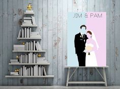 JIM & PAM / The Office / Minimalist Poster Art by ThePerkyPug