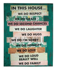House Rules Canvas by @Crafts Direct
