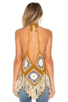 Free People Summer Of Love Halter en Multi Shop for Free People Summer Of Love Halter in Multi at REVOLVE. Free day shipping and returns, 30 day price match guarantee. Crochet Summer Tops, Crochet Halter Tops, Crochet Shirt, Summer Knitting, Crochet Bikini, Crochet Top, Hippie Crochet, Black Crochet Dress, Hippie Outfits