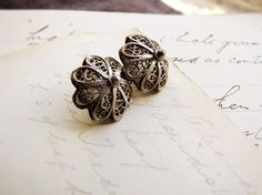 antique buttons  19th century filigree silver  by faginsdaughter, $55.00