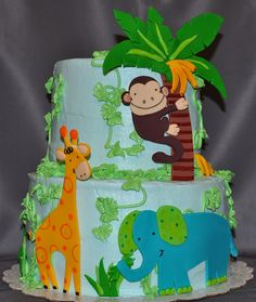 Jungle cake for my son's birthday