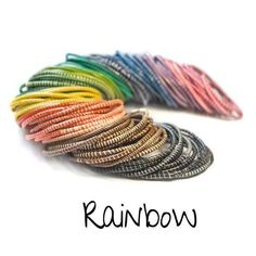 Recycled Rubber Flip Flop Bracelets - Rainbow Mix | The Pinky Promise