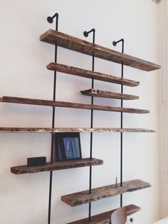 Reclaimed Wood Shelving Unit Customized for each by CoilandDrift