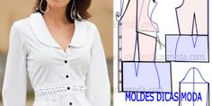 MOLD BLOUSE WITH COLLAR -87