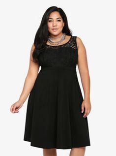 Lace Tank Swing Dress (The Classic Little Black Dress)