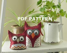 Make your own owl plush to sit on a shelf, table, or windowsill. This pattern is great to customize for seasons, holidays, or special occasions.  Children love playing with these owls, and theyre study enough to handle the love and attention!  This listing is for detailed instructions, with photos and full-size pattern sheets already drawn to scale. A PDF pattern will be available for you to download on completion of payment, and can be printed on regular 8 1/2 x 11 inch paper.  The patt...