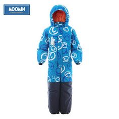 Moomin 2016 New arrival Winter Waterproof Romper 100% Polyester Cotton Filling Romper Winter Snowsuit one piece romper blue (32710497897)  SEE MORE  #SuperDeals