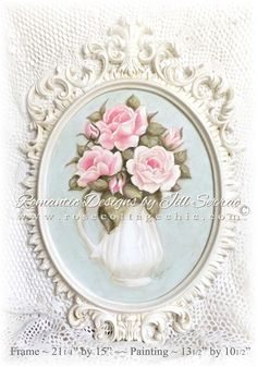http://www.rosecottagechic.com/paintings_signs/Framed_Painting_Pink_Roses_in_Pitcher.html