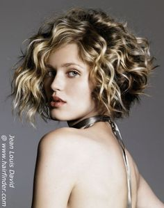 Curly Bob = what I think my hair would look like if I chopped it off!
