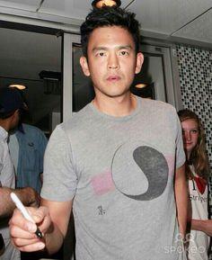 John Cho with ying-yang t-shirt John Cho, Dear John, Star Trek, Boys, Mens Tops, T Shirt, Women, Baby Boys, Supreme T Shirt