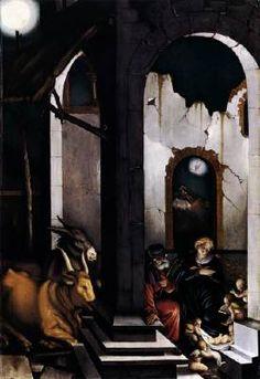 Nativity - Hans Baldung Grien - 1520 Oil on wood, x cm, Alte Pinakothek, Munich Hans Holbein, Hans Baldung Grien, Nativity Painting, Renaissance Kunst, Pop Art, Web Gallery Of Art, Galerie D'art En Ligne, Ouvrages D'art, Free Art Prints