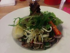 Tiger beef salad - A: 2 B: Green Peppercorn, Beef Salad, Japchae, Ethnic Recipes, Food, Steak Salad, Essen, Meals, Yemek