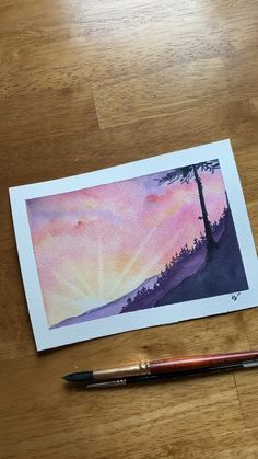 Watercolor Art Landscape, Watercolor Art Lessons, Watercolor Paintings For Beginners, Canvas Painting Tutorials, Watercolor Techniques, Painting With Watercolors, Easy Nature Paintings, Learn Watercolor Painting, Magical Paintings