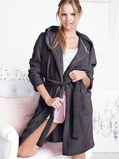 Plush Fleece Short Robe