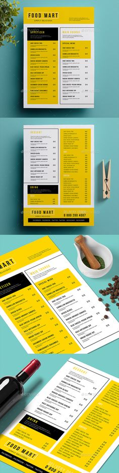 Minimal Food Menu Template Food menu template, Menu templates - food menu template