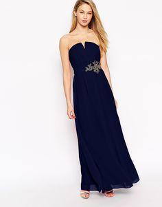 Little Mistress Maxi Dress With Embellished Waist