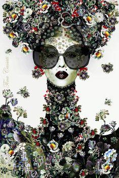 digital photography garden elements by Tina Cassati Collage Portrait, Collage Art, Art And Illustration, Artwork Images, Arte Floral, Photography Projects, Female Art, Diy Art, Unique Art