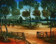 pro hart painting Australian Artists, Outdoor Furniture, Outdoor Decor, Park, Awesome, Painting, Home Decor, Decoration Home, Room Decor