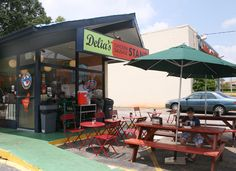 Sweet Peach - Home - Delia's Chicken SausageStand- must try!