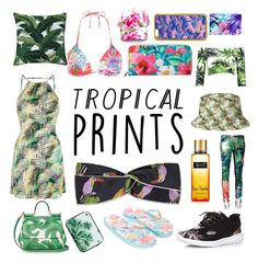 """Tropical Prints"" by hannahbates11 ❤ liked on Polyvore featuring Topshop, Gucci, Dolce&Gabbana, Accessorize, Vitamin A, Kipling, Dorothy Perkins, Skinnydip, Roberto Cavalli and tropicalprints"