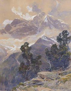The Ortler    Edward Harrison Compton, 1915 Watercolor 37 x 29 cm