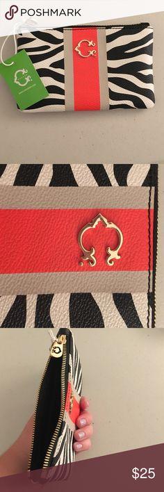 C Wonder zebra print wallet C Wonder wallet - adorable zebra print with preppy detail - never been used! C Wonder Bags Wallets