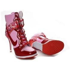 newest collection cb36e fec5d Nike High Heels Purple Red