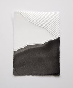 Lind embossed paper with ink wash
