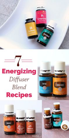 7 Energizing Diffuser Blend Recipes from RecipeswithEssentialOils.com