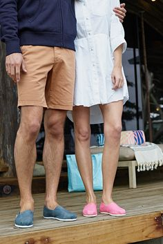 TOMS slip-on shoes for the couple who gives together.