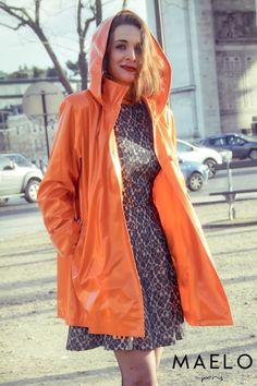 Hooded Cloak, Red Hood, Rain Wear, Hoods, Rain Jacket, Windbreaker, Raincoat, Paris, Woman