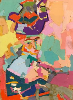 Joseph Albers' Interaction of Color   1963   (paper collage) of Henri Matisse's  Woman with a Hat 1905