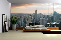 Find New York City Skyline Black White Wallpaper Mural online. Shop the latest collection of New York City Skyline Black White Wallpaper Mural from the popular stores - all in one City Skyline Wallpaper, Cityscape Wallpaper, City Wallpaper, Photo Wallpaper, Wall Wallpaper, Wallpaper Ideas, New York Bedroom Wallpaper, Dollhouse Furniture Kits, New York City Pictures
