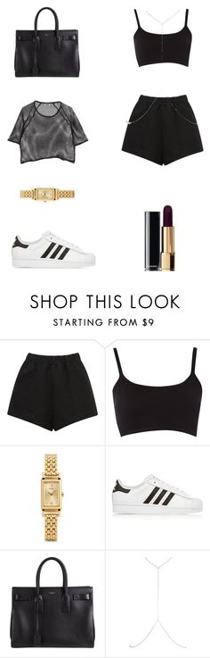 """Untitled #5""❤ liked on Polyvore featuring E L L E R Y, Coach, adidas Originals, Yves Saint Laurent, River Island and Chanel"